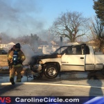 Pickup Truck Fire on Gay Street Denton Maryland