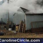 Shed Fire Corner of Lincoln and 5th Street Denton Md