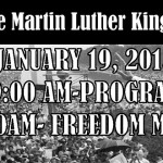 MLK Freedom march. Denton, Maryland. 01/19/2015