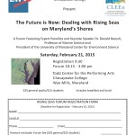 Forum on Rising Seas by Chesapeake College and the League of Women Voters of Maryland.