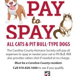 Announcement From Caroline County Humane Society