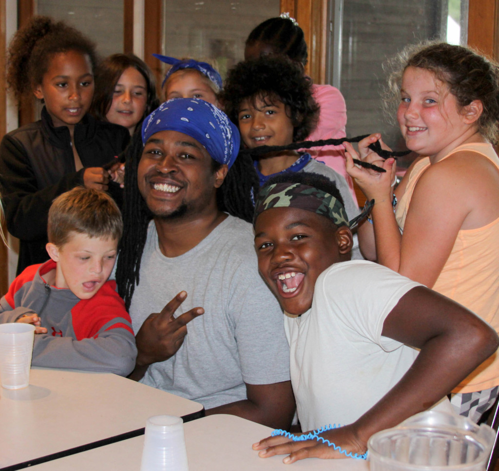 TonyTue with campers 2015
