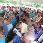 Covenant Churches tent service at Chesapeake Bay Maritime Museum May 22