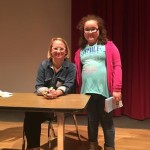 Award-winning children's book author Jennifer Holm held a program for fifth graders from Preston and Federalsburg Elementary Schools on April 14, 2016.