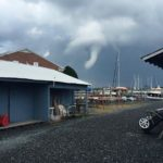 Funnel Cloud was spotted over Oxford Maryland, view from Oxford Boat Yard.