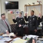 The swearing In of Deputies Dickey, Pack & Matteson.