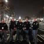 Caroline County Sheriff's Office Inaugural Contingent on the job in Washington DC.