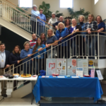 Caroline County Health Department staff dressed in blue to show support for Colorectal Cancer Awareness month.