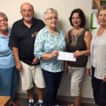Susan Andrew-niece of Anna Henry Lord gives $5000 to Samaritan House that her aunt willed to them.