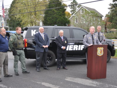 Earlier today, Sheriff Gary Hofmann announced that he will replace a dual purpose (drug recognition and patrol) dog within the Queen Anne's County Office of the Sheriff following the Line of Duty Death of K-9 Blek this past September.